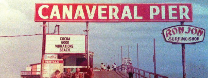 Historical Photo Of Canaveral Pier With The Extending Into Distance At Top