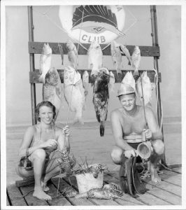 Dolly and Bill Whitman Spearfishing, 1952