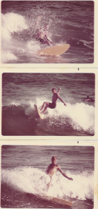 "Mark Perry, November 1970, South Beach, Miami. 5'6"" Hobie Twin Fin."