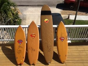Kevlar surfboard line-up. From the Bill Gray collection.