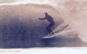 Photo of Ken Roose of Pensacola, Florida. This photo was featured in Surfing Magazine, July 1975. Photo by Tony Caruso.