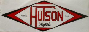 Hutson Surfboards' logo, a surf shop in Pensacola, Florida in the 1960-1970's.