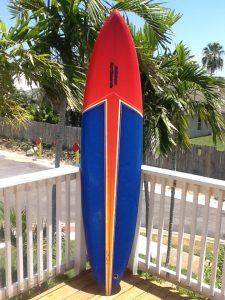 Deck view-classic single fin template